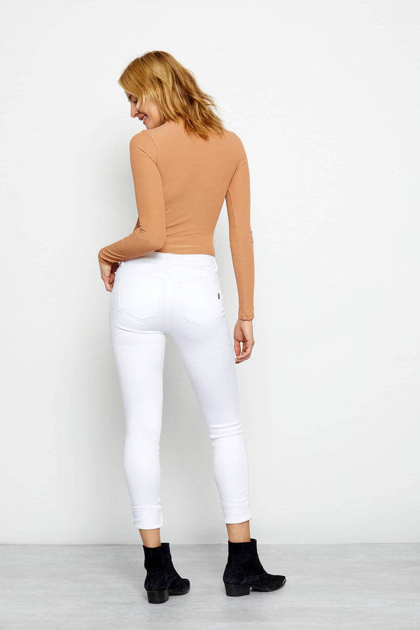 Butter Roll Cuff Skinny In Wynter White