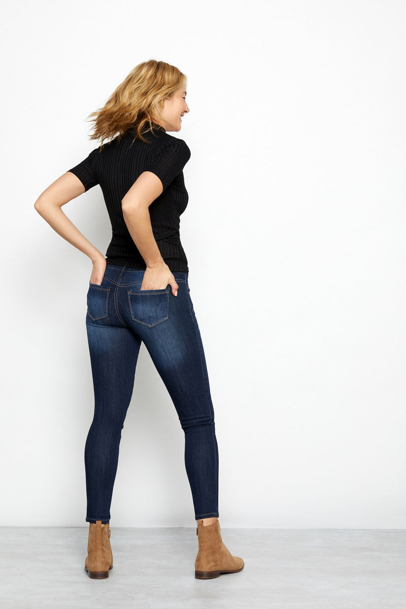 "Vintage Denim 28"" Ankle Skinny Jeans In Raquel"
