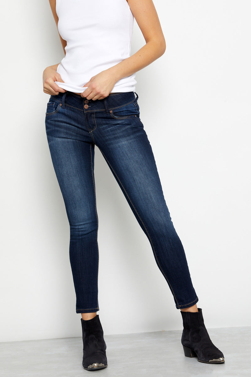 "Vintage Denim 28"" Dex Double Button Ankle Skinny in Raquel"
