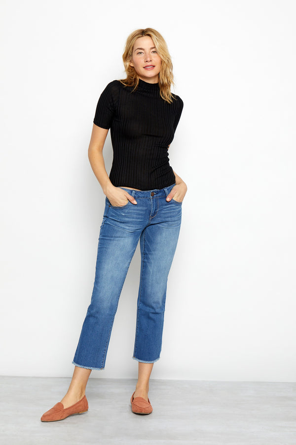 "Vintage 26"" Crop Straight Jeans in Lexington"