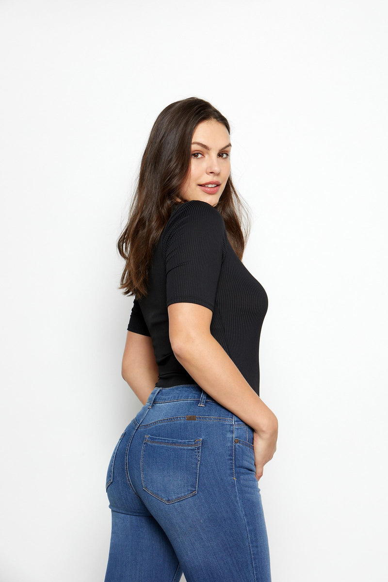 "Curvy Vintage Denim 26"" Roll Cuff Jeans In Ziggy"