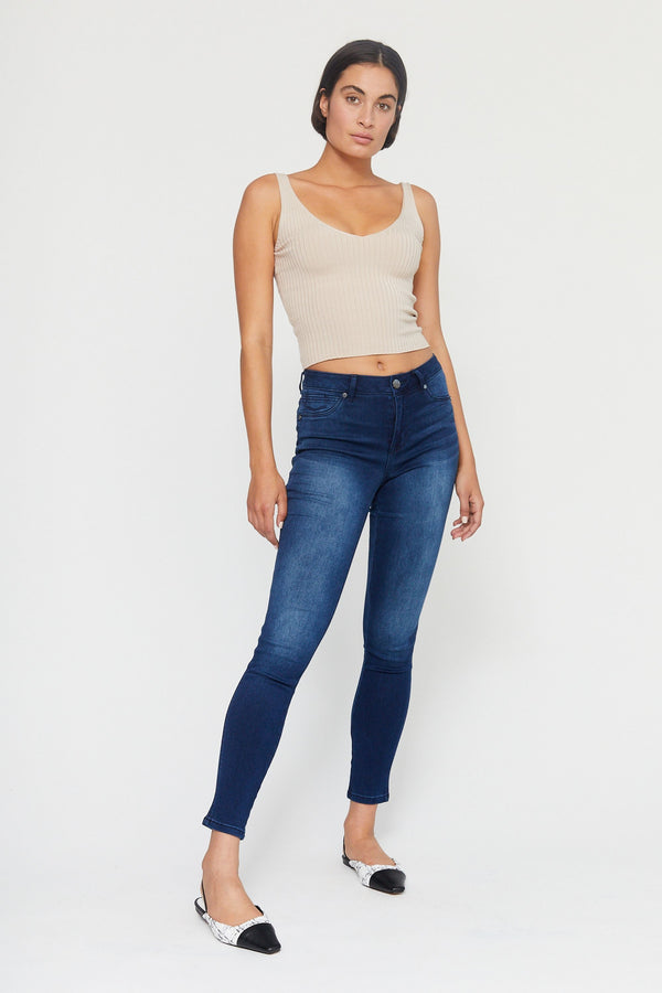 "Butter 30""High Rise Ankle Skinny Women's Jegging In Wynter Marco"