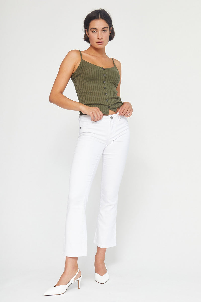 "Butter 30"" Slim Boot Cut Women's Jegging In Wynter White"