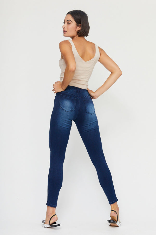 "Butter 30"" Skinny High Rise Jeans In Wynter Marco"