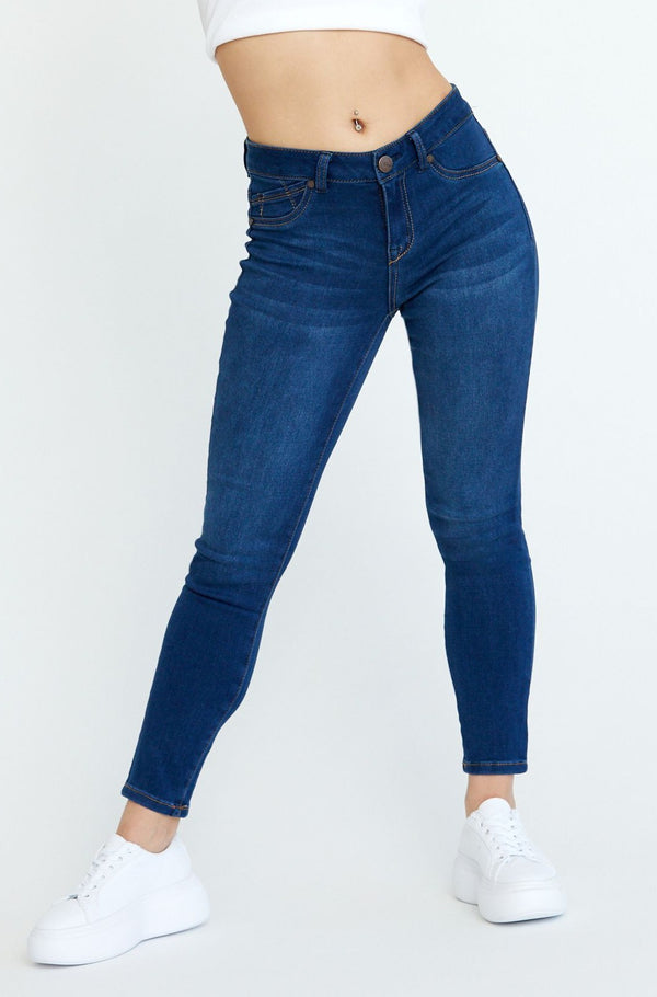 "Petite Butter 26"" Ankle Skinny Jeans In Wynter Lennox"