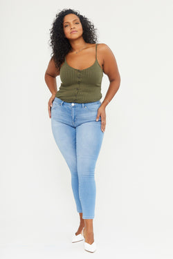 "Curvy Butter 28"" Ankle Skinny Jeans In Wynter Mojava"