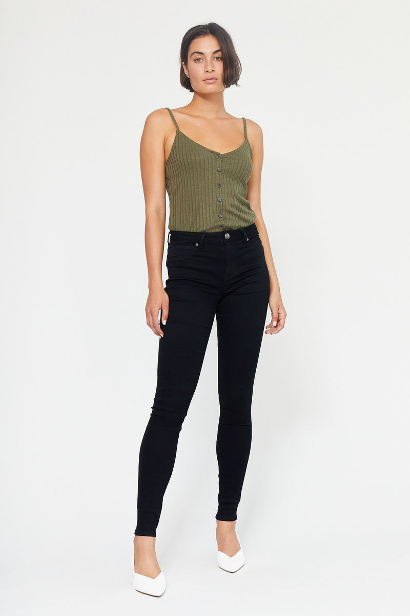 "Butter 32"" Tall High Rise Skinny Jeans In Wynter Black"