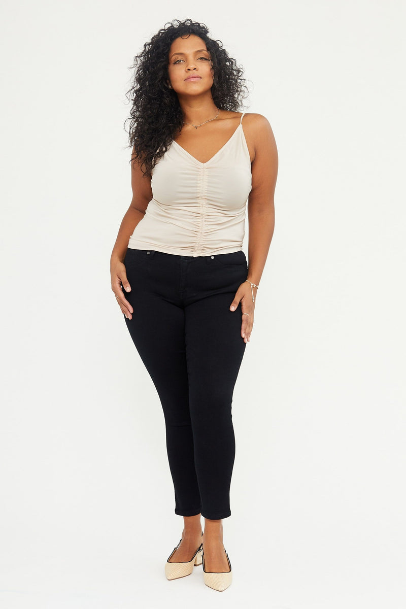 "Extra Curvy Butter 28"" Ankle Skinny Jeans In Wynter Black"