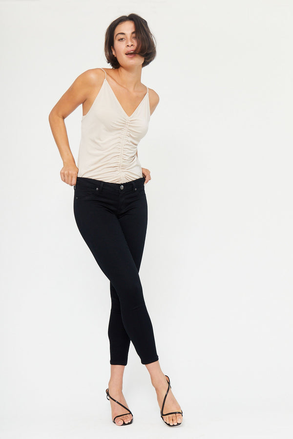"Butter 28"" Ankle Mid Rise Skinny Jeans in Wynter Black"