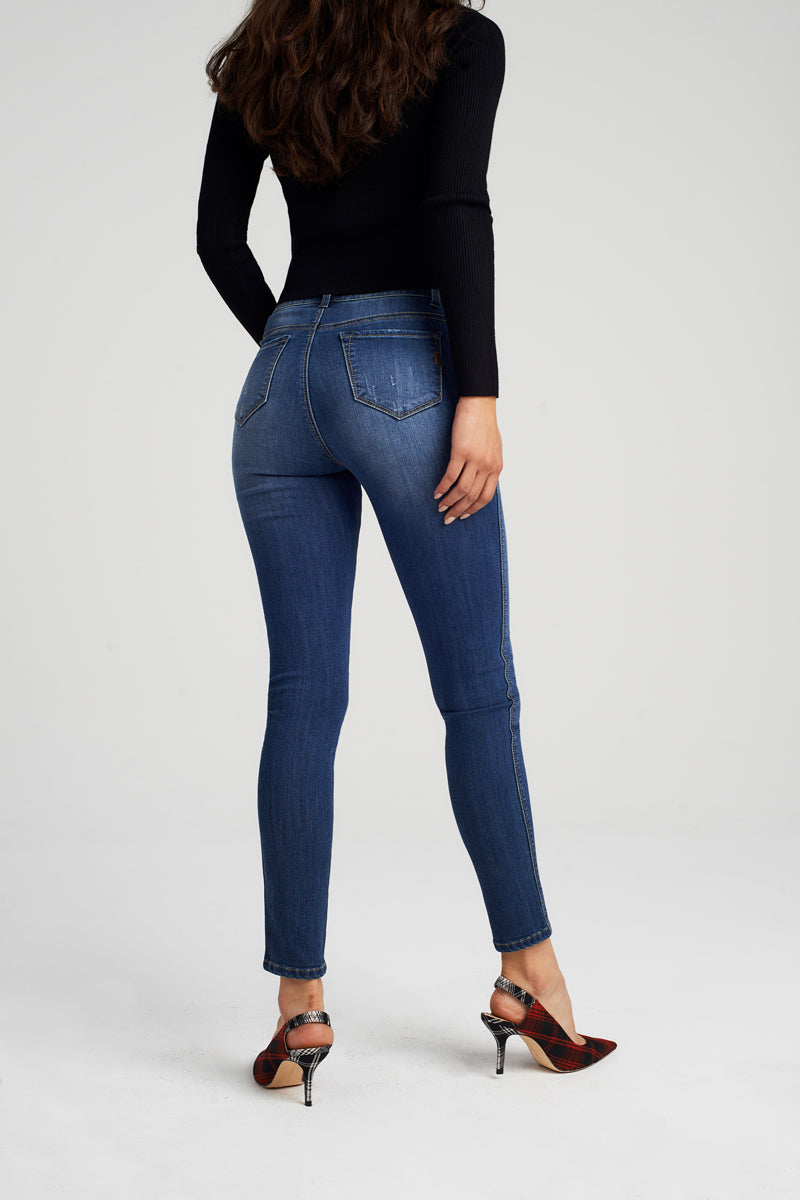 High Rise Decon Skinny Jeans In Sublime