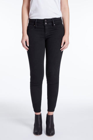 Contour Wide Waist Skinny Jeans In Black