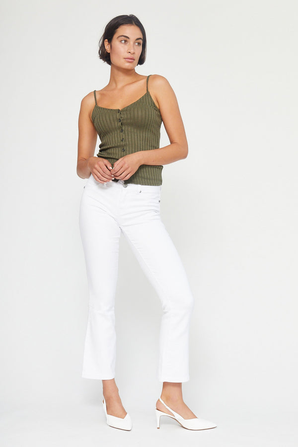 "Butter 30"" Slim Boot Cut Jeans In Wynter White"