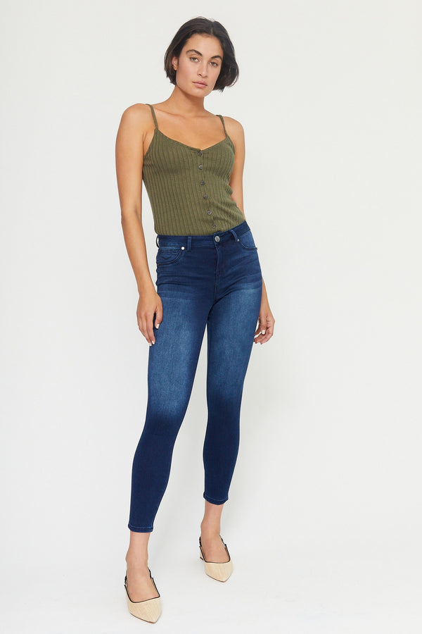 "Butter 28"" Ankle High Rise Skinny Jeans In Wynter Marco"