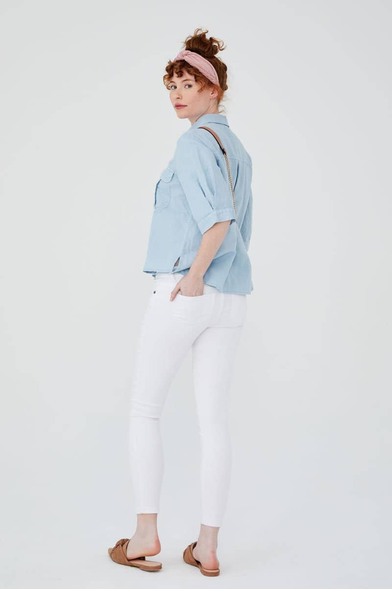 "Butter 28"" Ankle Skinny Jean in Wynter White"