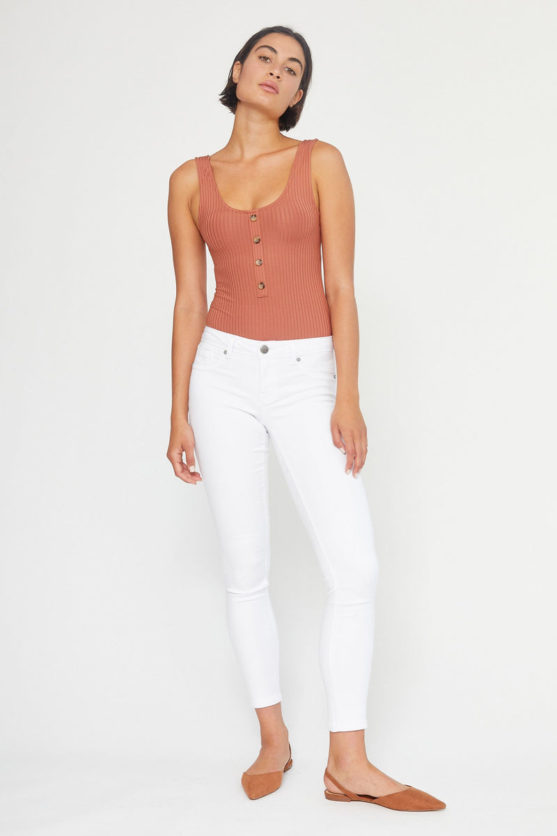 "Butter 30"" Midrise Skinny Jeans In Wynter White"