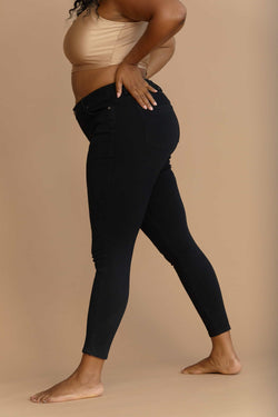 "Plus Sculpting Shapewear 28"" Ankle Skinny In Black"