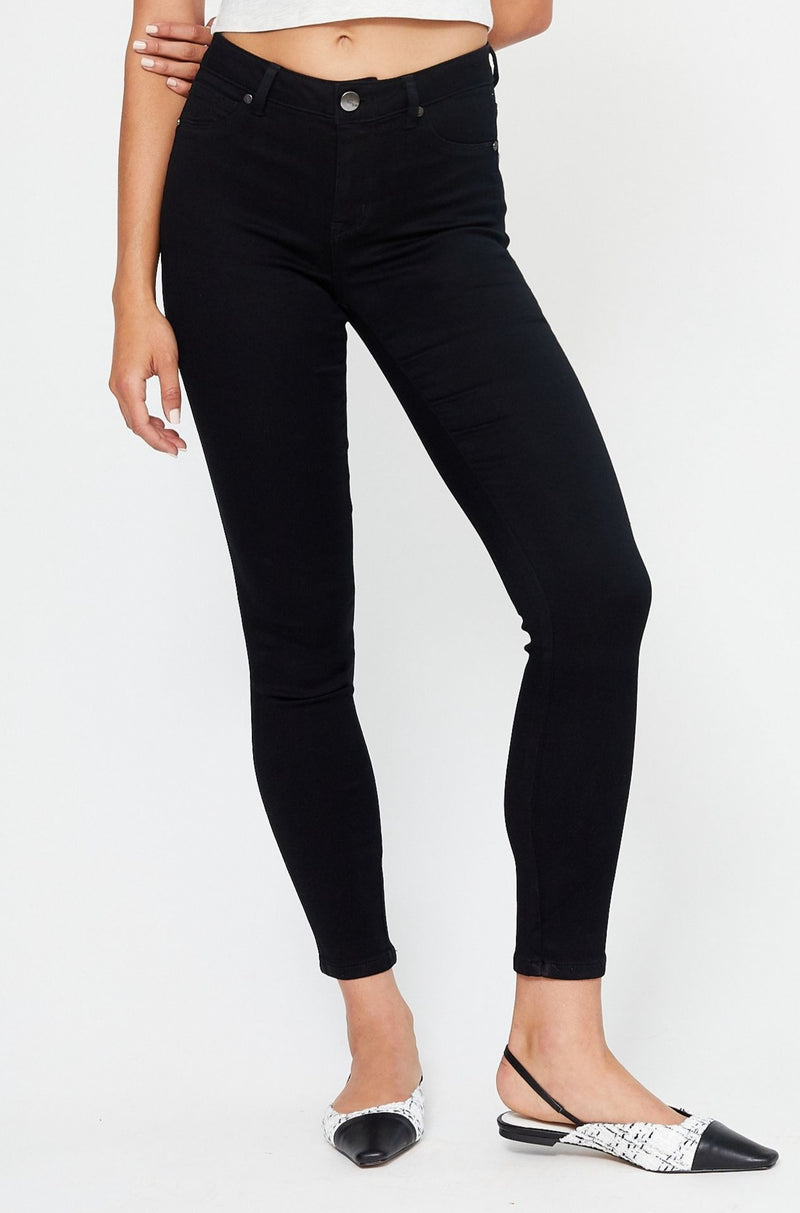 "Butter 30"" Skinny High Rise Jeans In Wynter Black"
