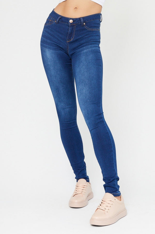 "Butter 34"" Extra Tall Mid Rise Skinny Jeans In Wynter Lennox"