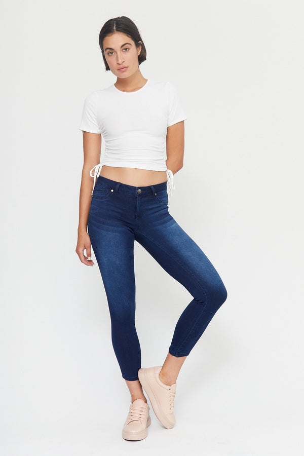 "Butter 28"" Ankle Mid Rise Skinny Jeans In Wynter Marco"