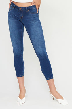 "Butter 28"" Ankle Mid Rise Skinny Jeans in Wynter Ziggy"