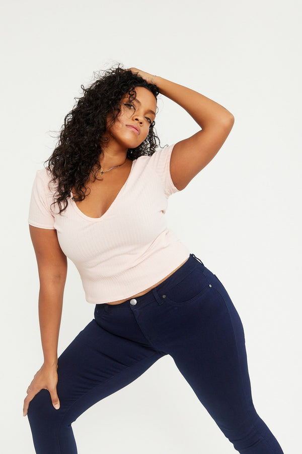 "Curvy Butter 23"" Crop Skinny Jeans in Wynter Rinse"