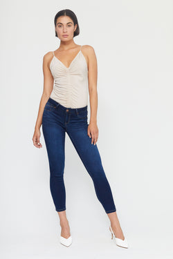 "Butter 28"" Ankle Mid Rise Skinny Jeans in Wynter Raquel"