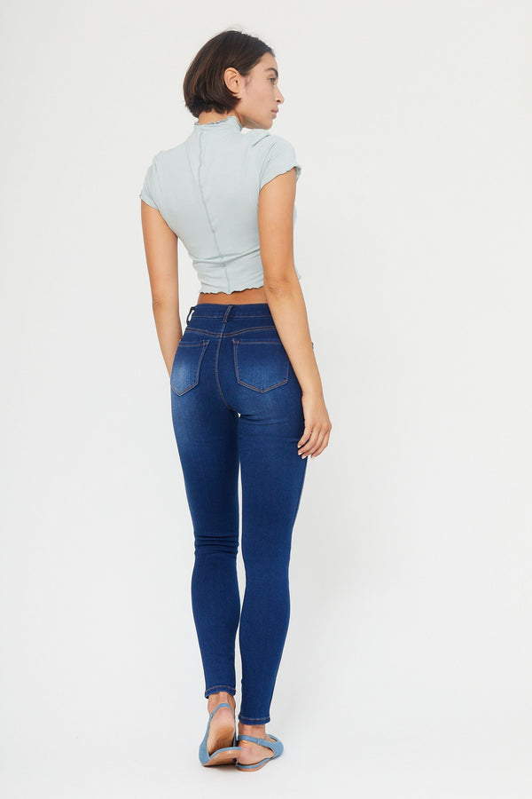 "Butter 32"" Tall High Rise Skinny Jeans In Wynter Lennox"