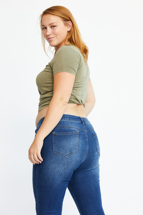 "Curvy RE: DENIM Mid Rise 28"" ankle skinny in Arlyn"