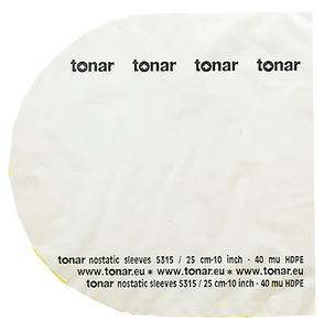 "Tonar Nostatic sleeves 12 inch"" (30 cm) LP records"