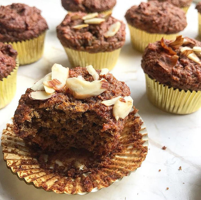 Almond Butter Banana Muffins by @sunflower_inthecity