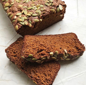 Pumpkin Flour Paleo Flaxseed Bread by @sunflower_inthecity