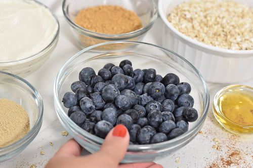 glean blueberry oat smoothie