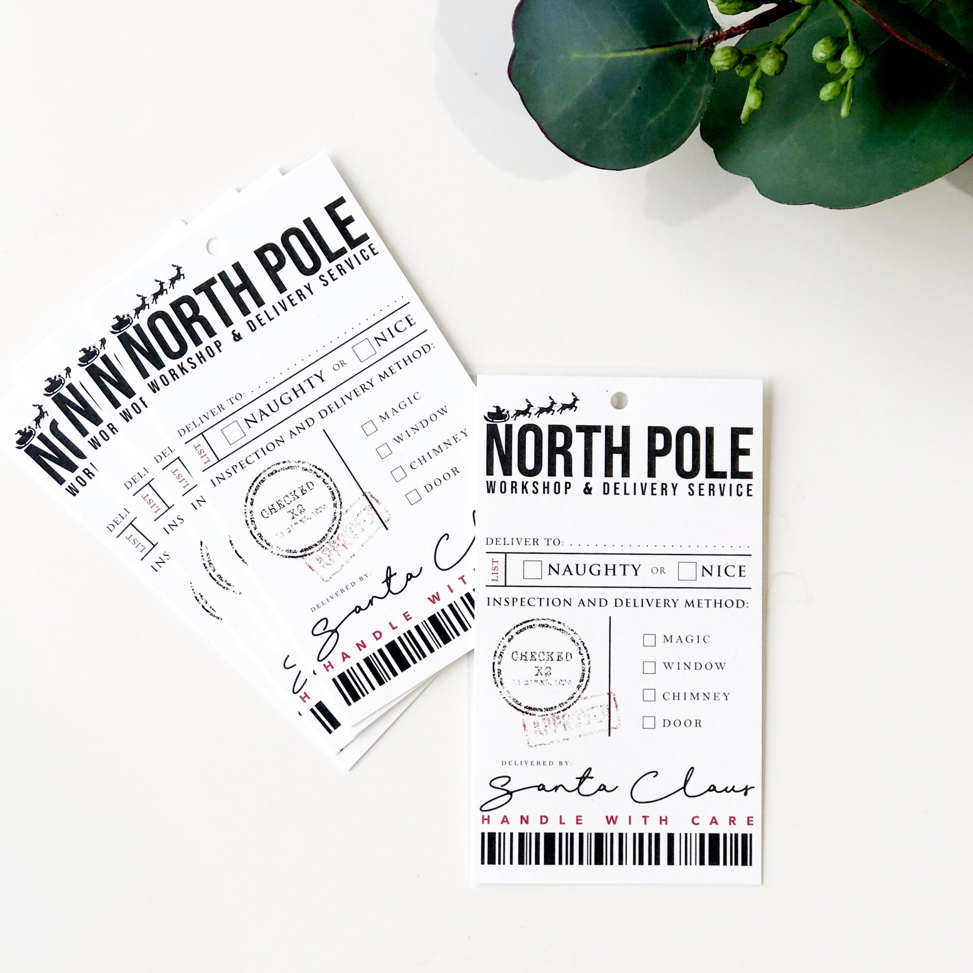 [note:able] - North Pole Christmas Tag Set - 5 Pack