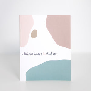 [note:able] - a big thank you - Card