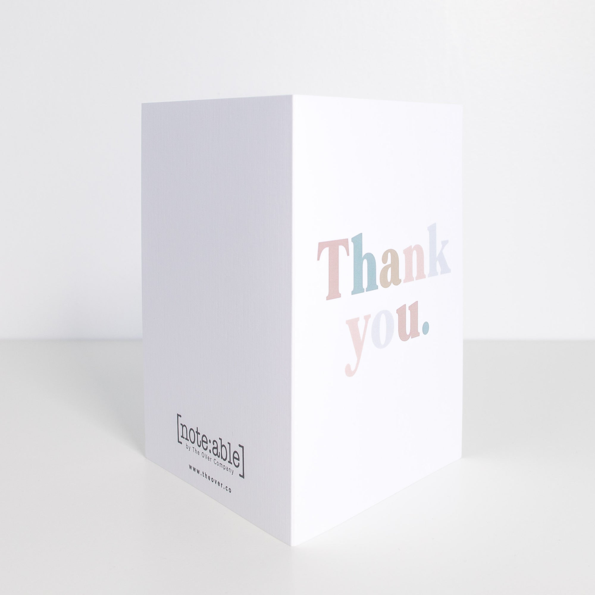 [note:able] - Thank You multicoloured- Card