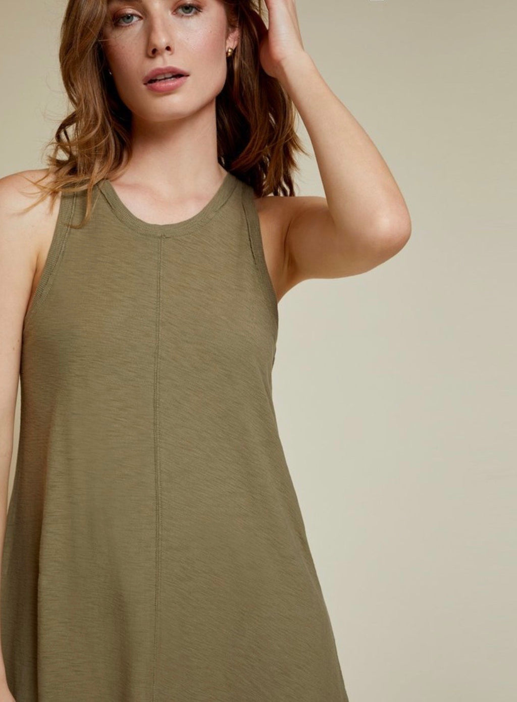 Lulu A-line dress - eucalyptus