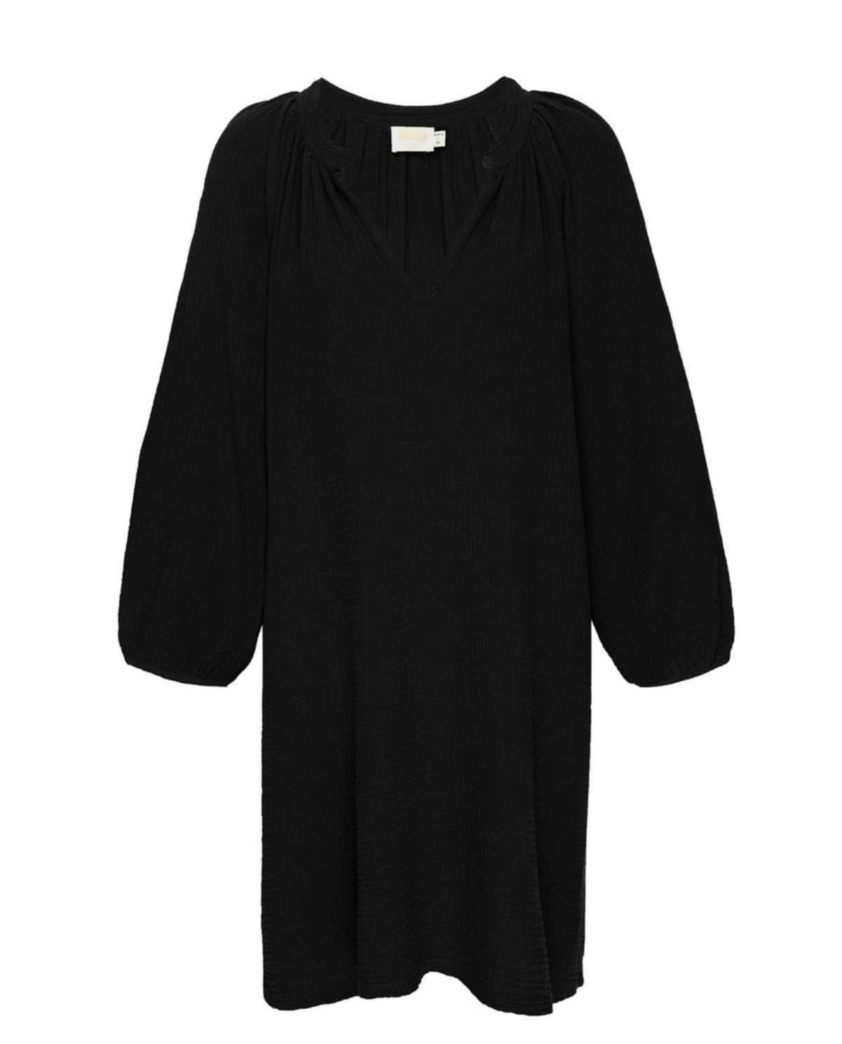 Nala peasant dress - black