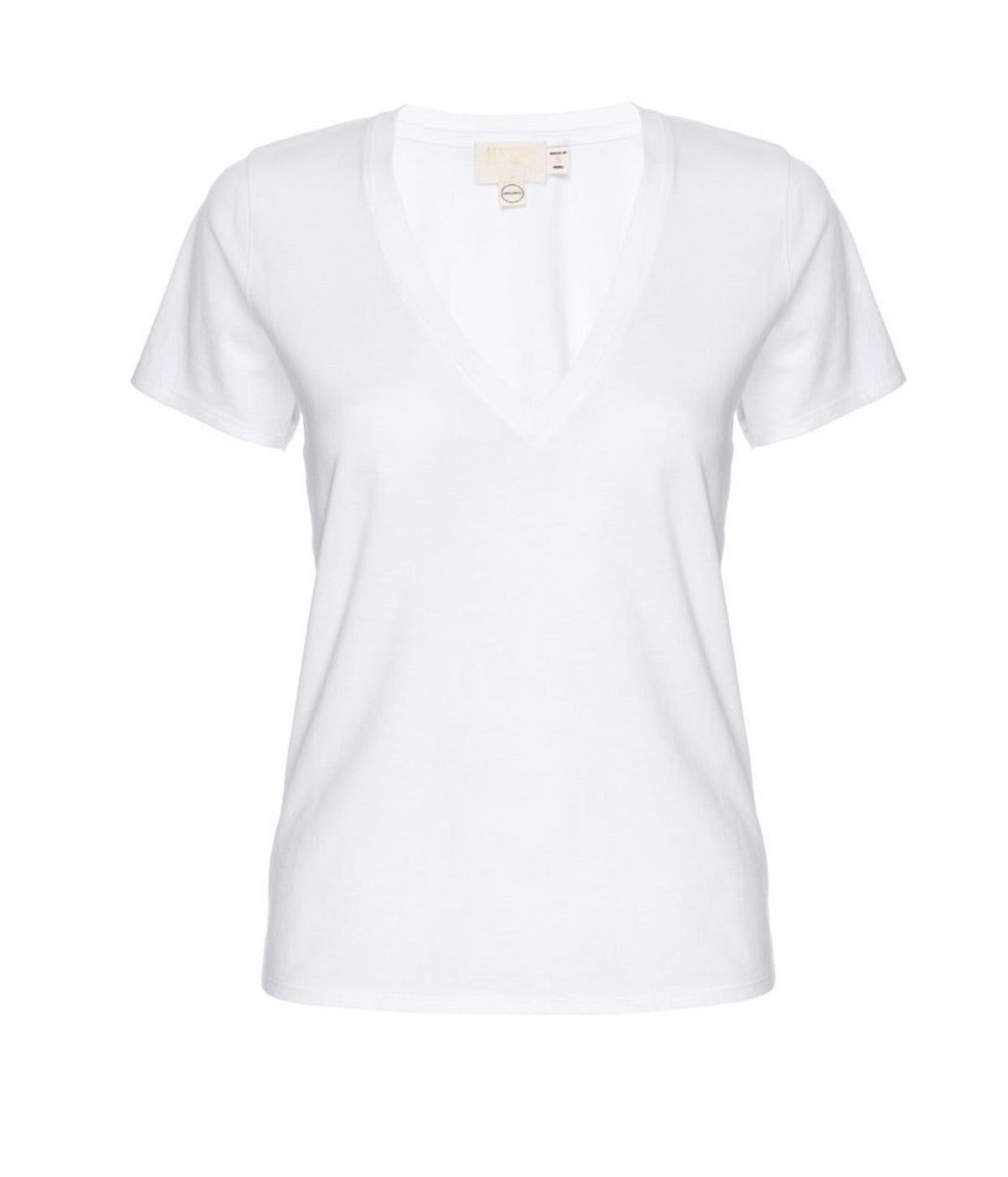 Blair deep v tee- white