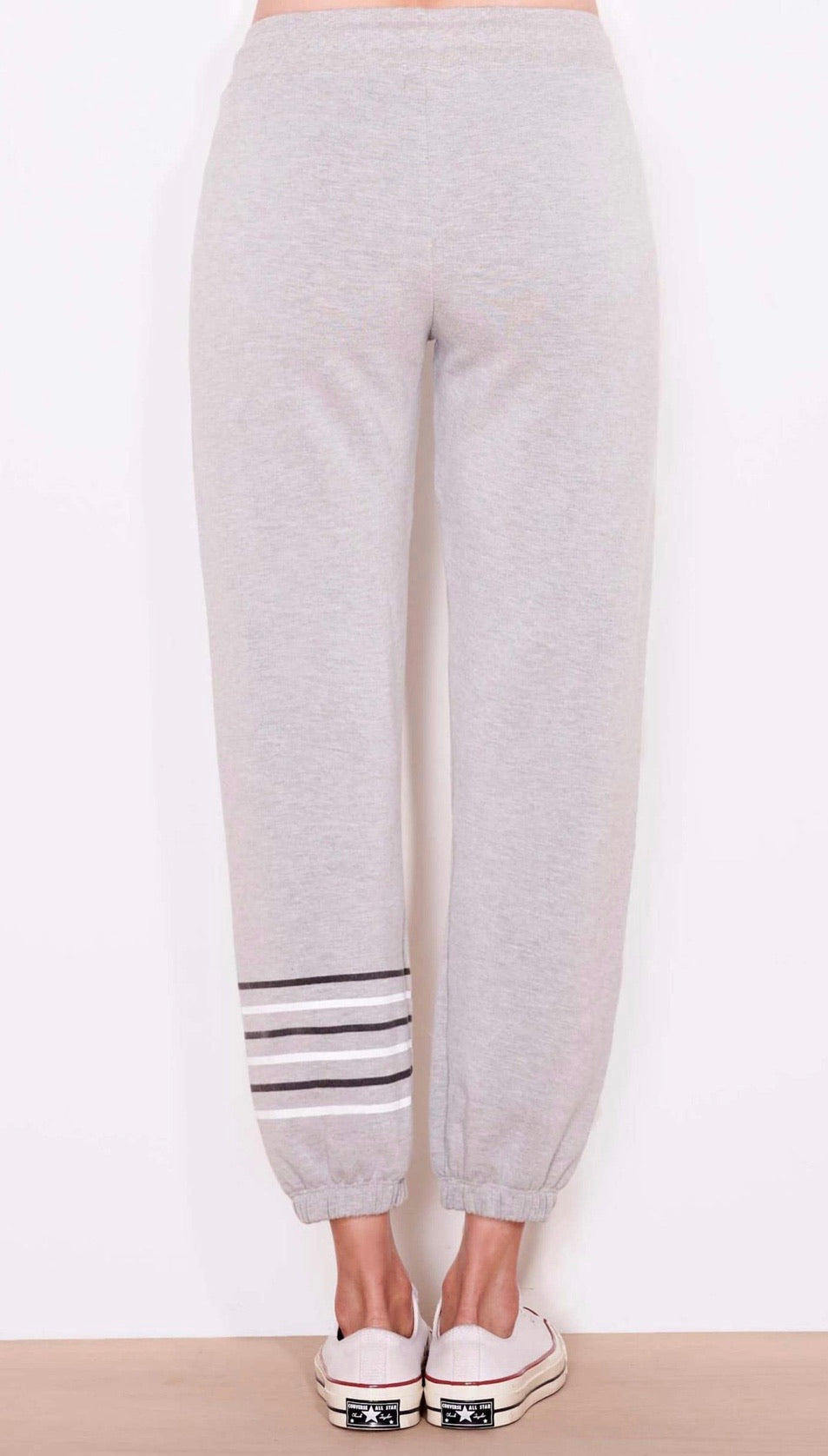 Stripes sweatpants- heather grey