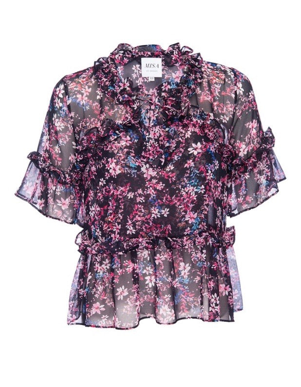 Abigail blouse - midnight floral