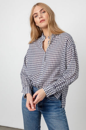 Andie - Navy check
