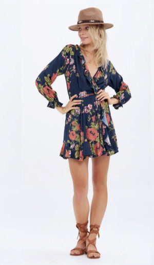 Istana floral wrap dress