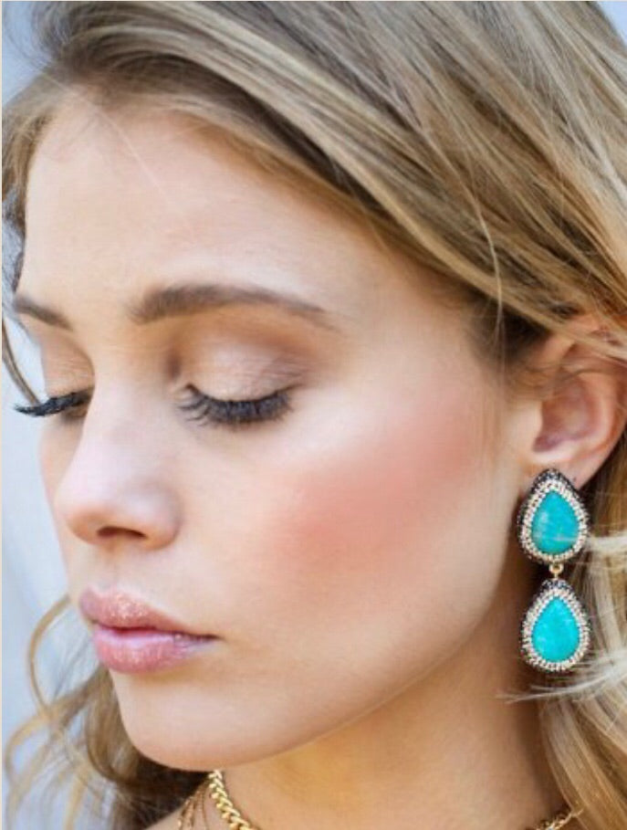 Maldives tiered earrings