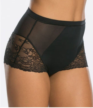 Spotlight lace brief - very black