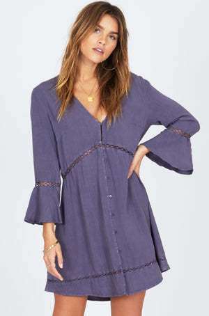 La Sirena dress faded indigo