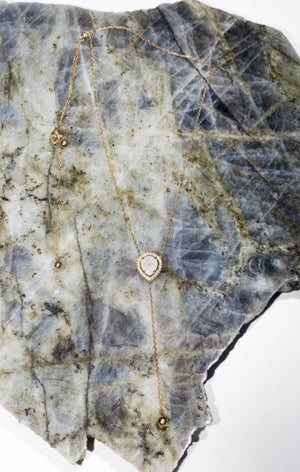 Virtue lariat necklace