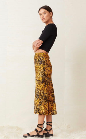 Turtle rock silk skirt