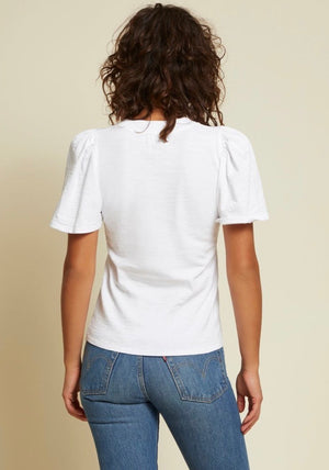 Savanna flutter top - white
