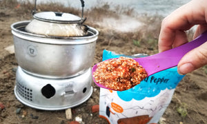 freeze dried backpacking food rehydrated