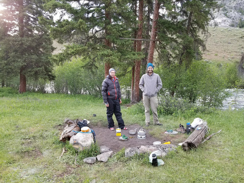 backpacking with friends yellowstone national park ready to eat food